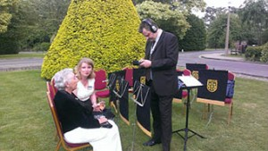 The Bletchley Podcast Team interviewing Bletchley veteran, Jean Valentine